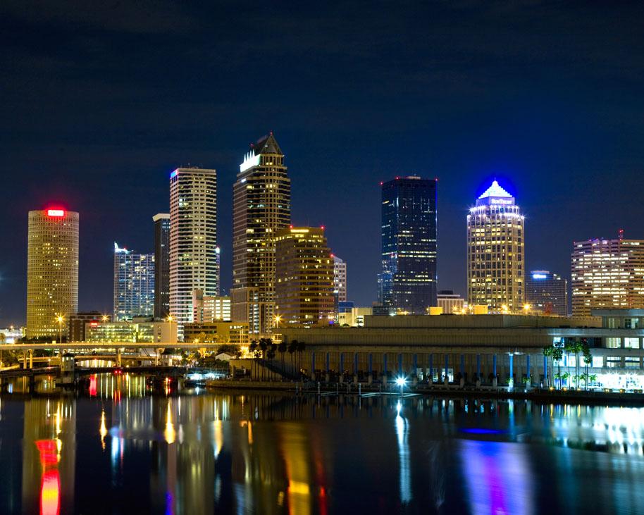 Downtown Tampa At Night Tampa Changing